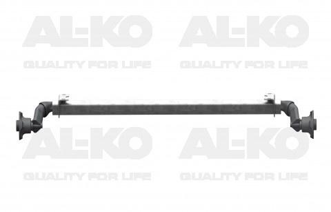 AL-KO Ongeremde torsie as - padmaat 1150 mm - flensmaat 1580 mm - 750 kg - 4x100