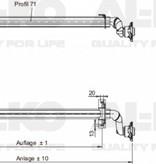 AL-KO Ongeremde torsie as - padmaat 1600 mm - flensmaat 2030 mm - 750 kg - 4x100