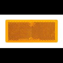 Oranje/gele reflector 82x36 mm zelfklevend