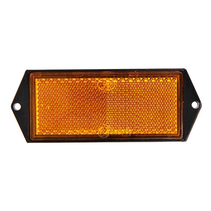 Oranje/gele reflector 104x40 mm schroefgaten