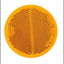 Oranje/gele reflector 58 mm zelfklevend rond
