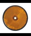 Oranje/gele reflector 60 mm schroefgaten rond