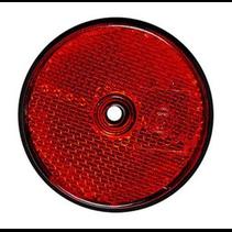 Rode reflector 60 mm schroefgaten rond