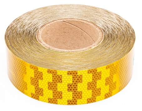 Avery 50 meter reflecterende tape voor harde ondergrond - oranje/geel