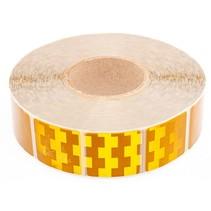 Tape - 50 meter - geel - zachte ondergrond