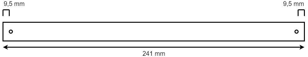As voor kielrollen - 241x16,8 mm technische tekening