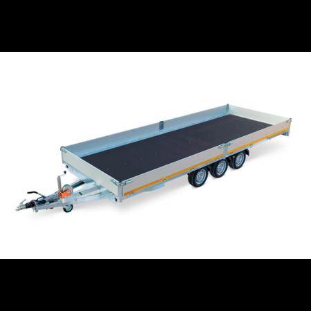 Eduard Geremde Eduard multitransporter - 506x220 cm - 3500 kg bruto laadvermogen - 63 cm laadvloerhoogte - 30 cm borden - inclusief oprijplaten en handlier - tridem asser