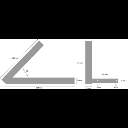 AWD Centreerarm links - 4.80/4.00-8