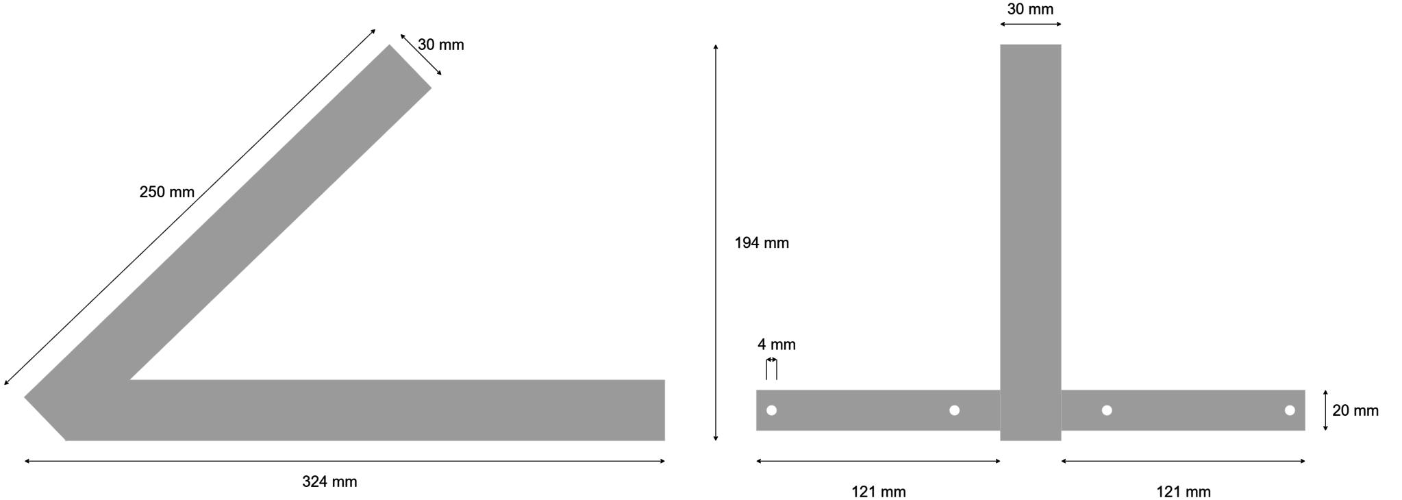Centreerset inclusief stroppenplaten - 4.00-4 & 3.00-8