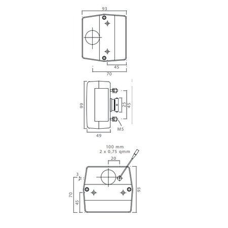 Aspock Aspock minipoint verlichtingsset met 5 meter hoofdkabel