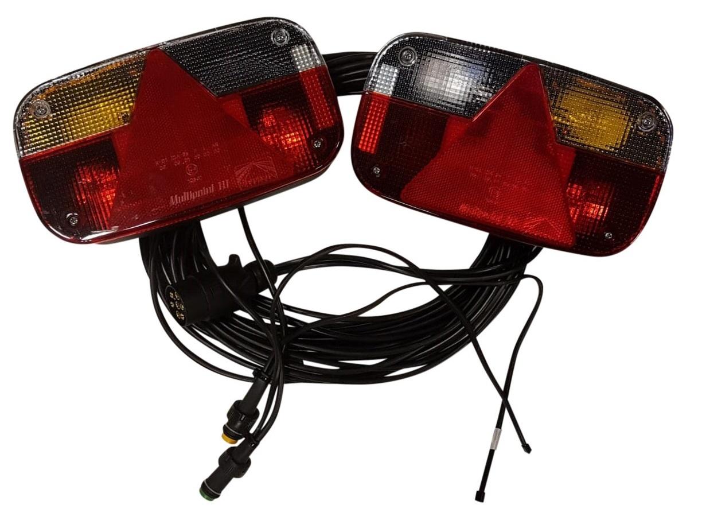 Aspock 7-polige Aspock Multipoint 3 verlichtingsset met 7 meter hoofdkabel met 2 aftakkingen voor bijvoorbeeld markeringsverlichting
