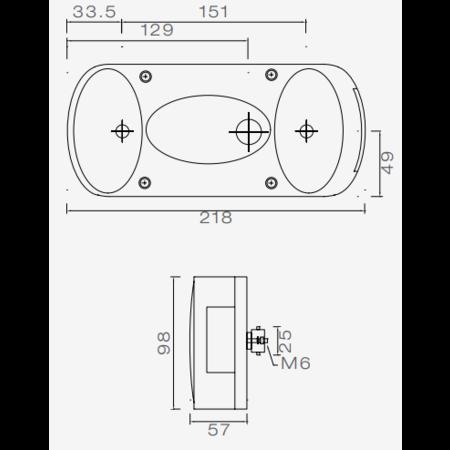 Aspock Aspock Midipoint 2 - rechts - 5 polige connector aansluiting