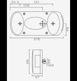 Aspock Aspock Midipoint 2 - links - 5 polige connector aansluiting