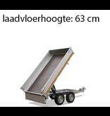 Eduard Ongeremde Eduard achterwaartse kipper - 256x150 cm - 750 kg bruto laadvermogen - elektrisch, extern laden - 63 cm laadvloerhoogte