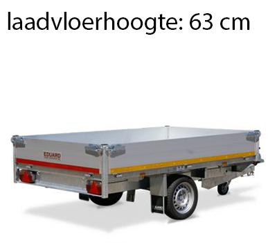 Eduard Geremde Eduard achterwaartse kipper - 256x150 cm - 1350 kg bruto laadvermogen - elektrisch, extern laden - 63 cm laadvloerhoogte