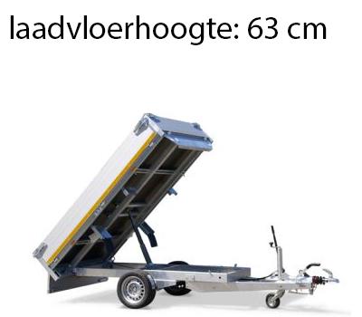 Eduard Geremde Eduard achterwaartse kipper - 256x150 cm - 1350 kg bruto laadvermogen - handpomp - 63 cm laadvloerhoogte