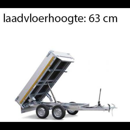 Eduard Ongeremde Eduard achterwaartse kipper - 256x150 cm - 750 kg bruto laadvermogen - handpomp - 63 cm laadvloerhoogte