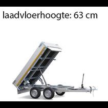 256x150 cm - 2000 kg - elek/afstands/handpomp