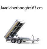 Eduard Geremde Eduard achterwaartse kipper - 256x150 cm - 2000 kg bruto laadvermogen - elektrisch, extern laden - 63 cm laadvloerhoogte