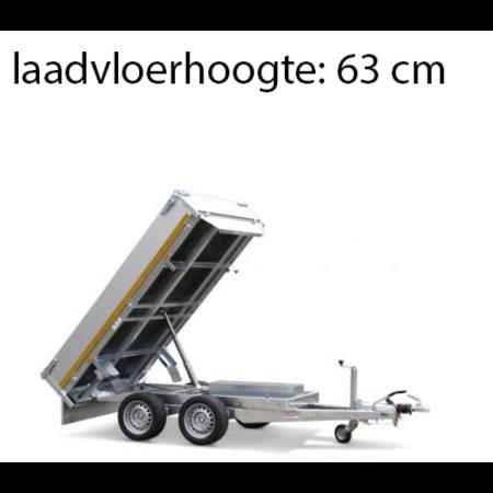 Eduard Geremde Eduard achterwaartse kipper - 256x150 cm - 2000 kg bruto laadvermogen - elektrisch, extern laden met een afstandsbediening - 63 cm laadvloerhoogte