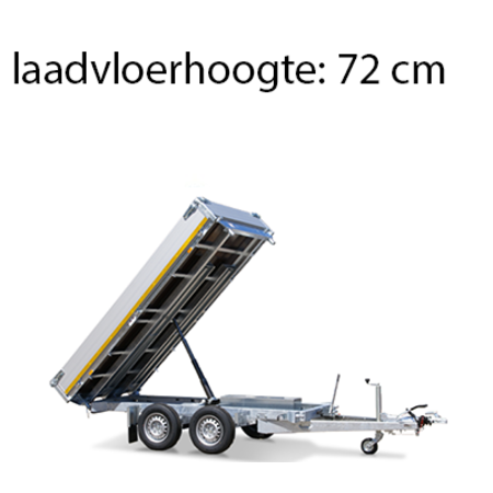Eduard Geremde Eduard achterwaartse kipper - 256x150 cm - 2000 kg bruto laadvermogen - elektrisch, extern laden  met een afstandsbediening en een handpomp - 72 cm laadvloerhoogte
