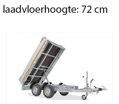 Eduard Geremde Eduard achterwaartse kipper - 256x150 cm - 2000 kg bruto laadvermogen - handpomp - 72 cm laadvloerhoogte
