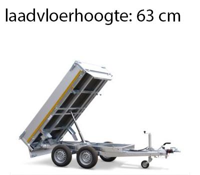 Eduard Achterwaartse kipper 310x160 cm - 2000 kg - elektrisch - voorzien van 30 cm borden