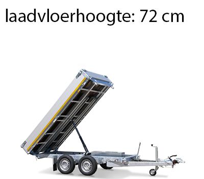 Eduard Geremde Eduard achterwaartse kipper - 256x150 cm - 2500 kg bruto laadvermogen - elektrisch, extern laden en een handpomp - 72 cm laadvloerhoogte