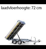 Eduard Geremde Eduard achterwaartse kipper - 256x150 cm - 2500 kg bruto laadvermogen - elektrisch, extern laden, een afstandsbediening en een handpomp - 72 cm laadvloerhoogte