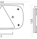 Aspock Aspock Multipoint 3 verlichtingsset - 8 meter hoofdkabel - 13 polig - inclusief voorgemonteerde markeringsverlichting