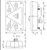 Aspock Aspock Multipoint 5 verlichtingsset - 5,5 meter hoofdkabel - 13 polig - inclusief voorgemonteerde markeringsverlichting