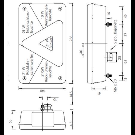Aspock Aspock Multipoint 5 verlichtingsset - 6+8 meter hoofdkabel - 13 polig - inclusief voorgemonteerde markeringsverlichting - stekkerdoos
