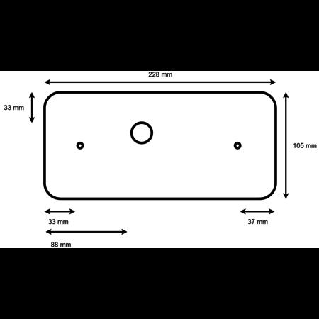 Aspock Led set met 5,5 meter hoofdkabel - 13 polig - inclusief voorgemonteerde markeringsverlichting