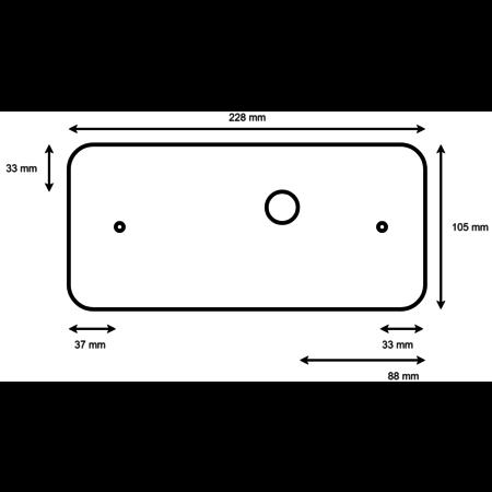Aspock Led set met 6,4 meter hoofdkabel - 13 polig - inclusief voorgemonteerde markeringsverlichting