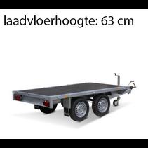 256x150 cm - 2700 kg - vlak - geremd
