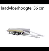 Eduard Geremde Eduard multitransporter - 310x180 cm - 3000 kg bruto laadvermogen - 56 cm laadvloerhoogte - 30 cm borden - inclusief oprijplaten
