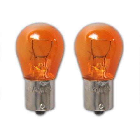 ProPlus Set van 2 lampjes Oranje , Bol Bajonet  12V 21/W ( Oranje knipperlicht)