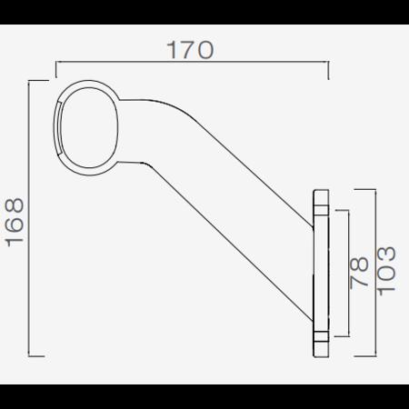 Aspock Aspock Superpoint 2 - links - wit/oranje/rood - 1 meter platte kabel
