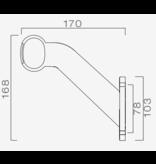 Aspock Aspock Superpoint 2 - rechts - wit/oranje/rood - 1 meter platte kabel