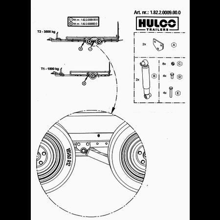 Anssems Hulco MEDAX/TERRAX schokbrekers 1800 kg - as 2