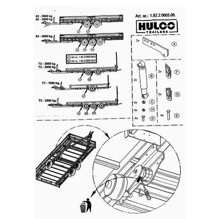 Anssems Hulco MEDAX/TERRAX schokbrekers 1500 kg - as 1