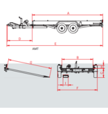 Anssems Anssems AMT 2500 - 2500 kg bruto laadvermogen - 340x180 cm laadoppervlak - geremd
