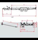 Anssems Anssems AMT 3000 autotransporter  - 3000 kg bruto laadvermogen - 507x200 cm laadoppervlak - geremd