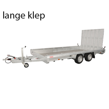 Hulco trailers Hulco TERRAX-2 3000 LK - 3000 kg bruto laadvermogen - machinetransporter - 394x180 cm laadoppervlak - geremd
