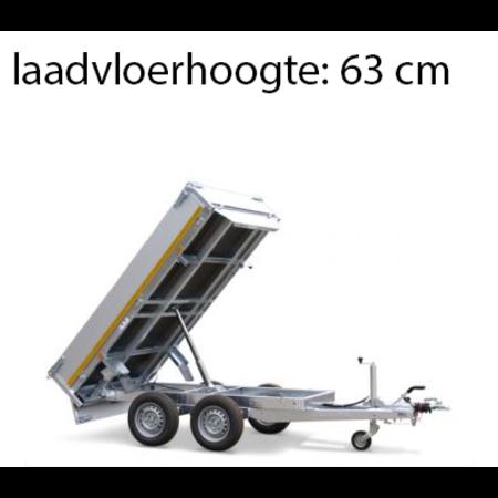 Eduard Achterwaartse kipper 310x160 cm - 2000 kg - elektrisch   voorzien van 40 cm borden en oprijplaten