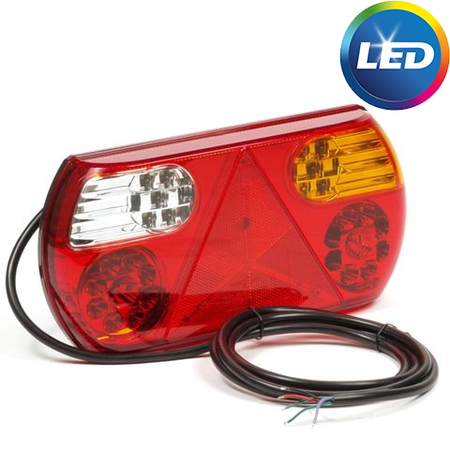 AWD Achterlicht rechts 32 LEDs 296x145x45 mm - inclusief reflecterende driehoek