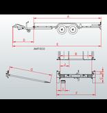Anssems Anssems AMT 1500 ECO - 1500 kg bruto laadvermogen - 400x188 cm laadoppervlak - geremd