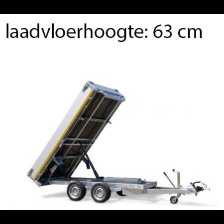 Eduard Achterwaartse kipper 310x160 cm - 2000 kg - handpomp - voorzien van 40 cm borden