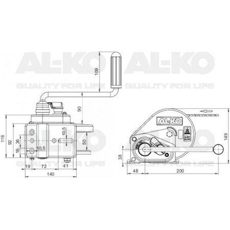 AL-KO Geremde handlier van AL-KO - inclusief afrolautomaat en 6 meter band voor slepen