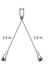 7-polige Radex 5500 verlichtingsset met 3,5 meter hoofdkabel
